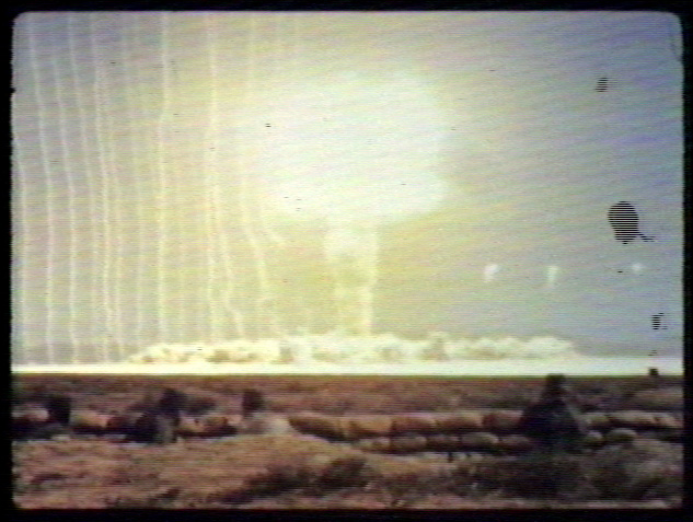 Troops Hunker down as Atomic Bomb is Detonated